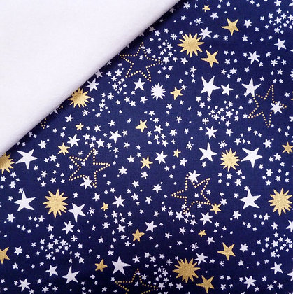 Fabric Felt :: Starbrite :: Night Light Navy on White
