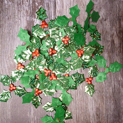 Holly Leaves & Berries :: Holographic