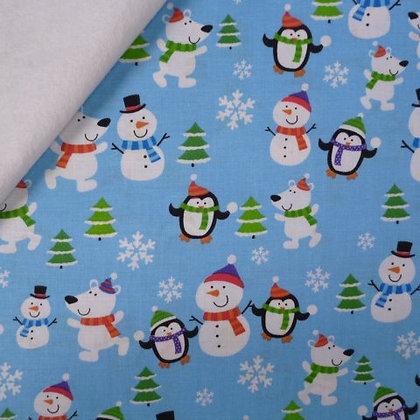 Fabric Felt :: 'Tis The Season :: Snowball Fight on White