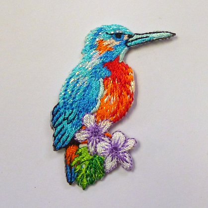 Embroidered Motif :: Tropical Kingfisher