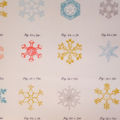 SALE Fabric :: Little Town :: Snow Crystals Jolly
