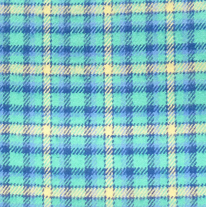 Fabric :: Plaid Flannel :: Green, Blue and Yellow