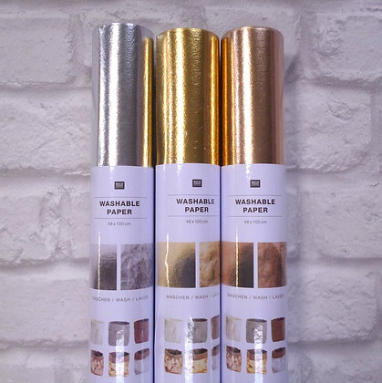 Washable Paper Roll :: Silver