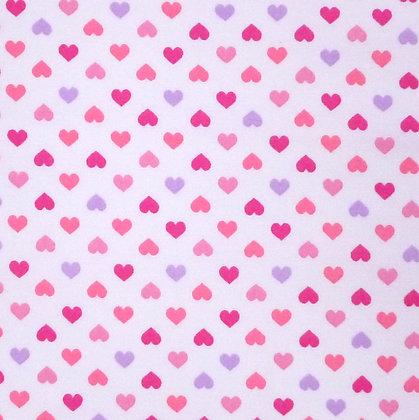 Fabric :: Mini Hearts :: Pinks on white