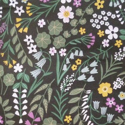FQ SALE Fabric :: Woodland Wander ::Dark Forest FAT QUARTER