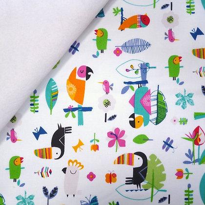 Fabric Felt :: Club Tropicana :: Bird Garden on White LAST FEW