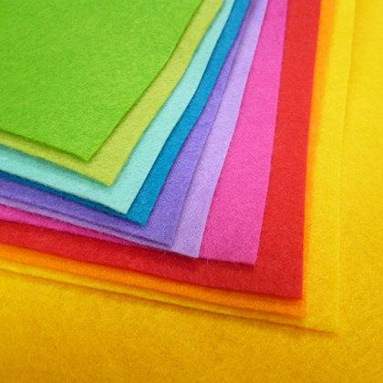 "Benefit 4 :: spend £45 :: Free 10x pack Rainbow Bright Felt II 12""x12"""