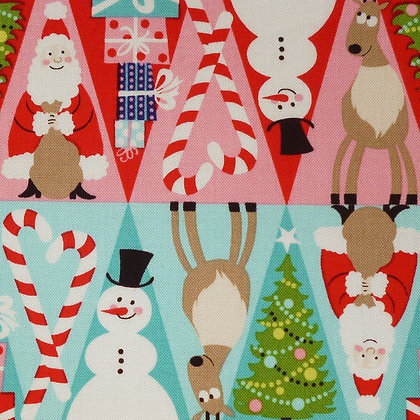 Fabric :: Holiday Christmas :: Triangle Rows