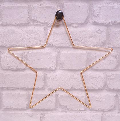 Gold Wire Star Hoop