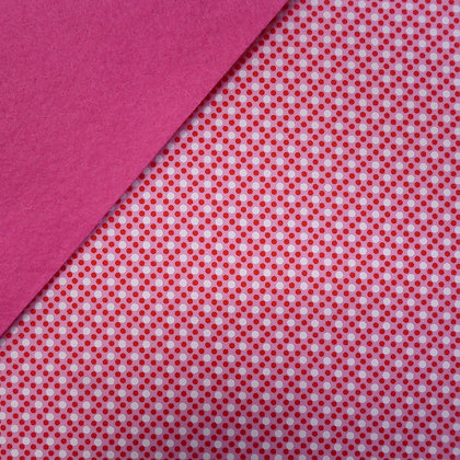Fabric Felt :: Pink Dim Dot on Candy Pink LAST FEW