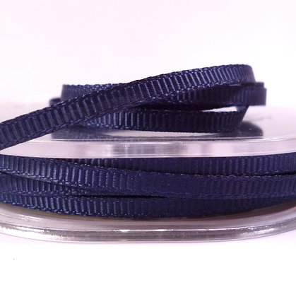 3mm Mini Grosgrain Ribbon (5 metres) :: Midnight Blue