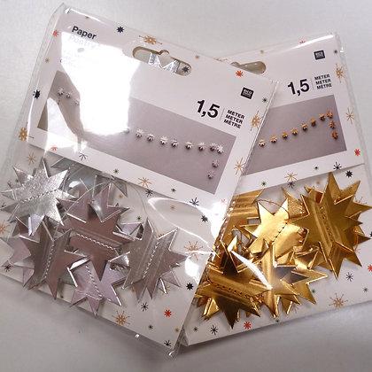 SALE 3D Star Cardboard Garland