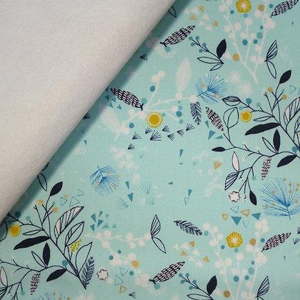 Fabric Felt :: Norrland :: Foliage on White LAST FEW