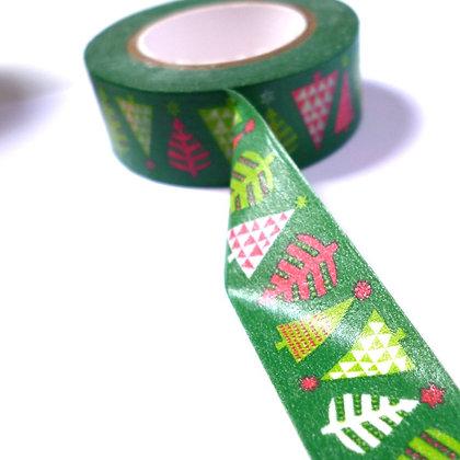 Christmas Washi Tape :: Dark Green & Trees