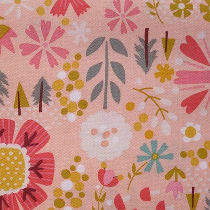 Fabric :: Goldilocks :: Coral Flowers