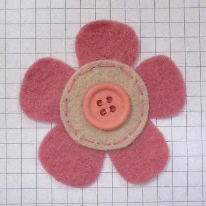 Raspberry :: Med Flower :: Handmade Embellishment