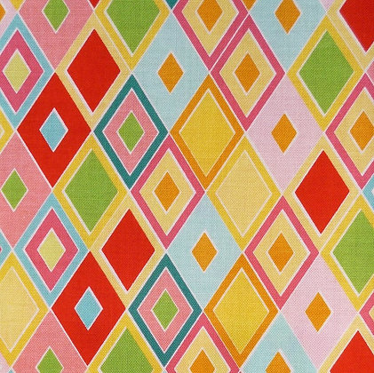 Fabric :: Madhuri  :: Red Diamonds