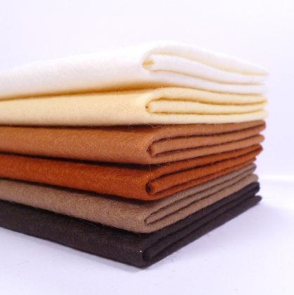 Premium Wool Felt Colour Pack :: Cookies & Cream