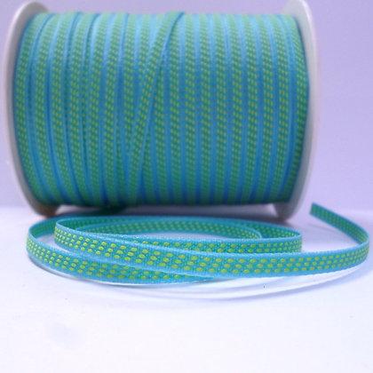 Tiny Centre Stitch Ribbon :: Turquoise & Lime