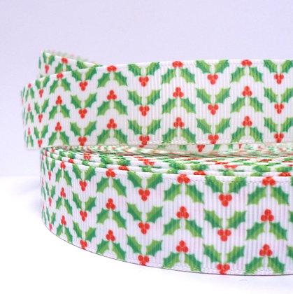 Christmas Grosgrain Ribbon :: Holly