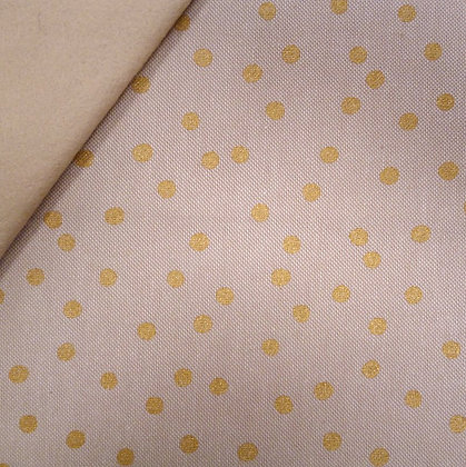 Fabric Felt :: Natural Christmas :: Gold Dot on Beige