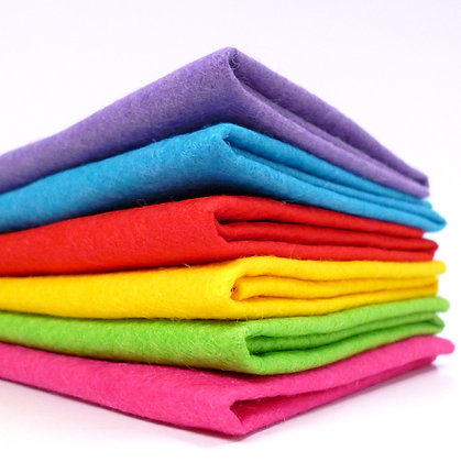 Premium Wool Felt Colour Pack :: Circus Bright