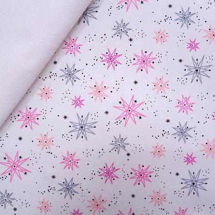 Fabric Felt :: Pastel Geo Starship on White