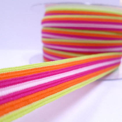 Pattern Fold Over Elastic :: Citrus Stripes