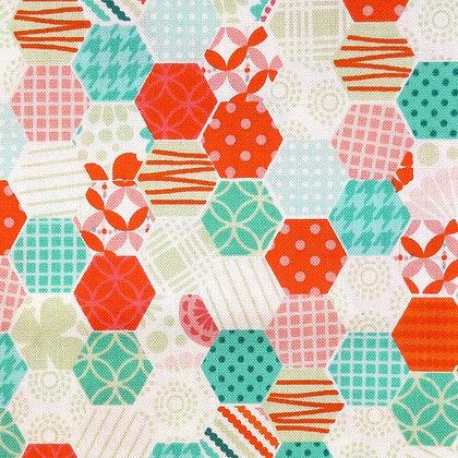 Fabric :: Sew Happy  :: Hexagons