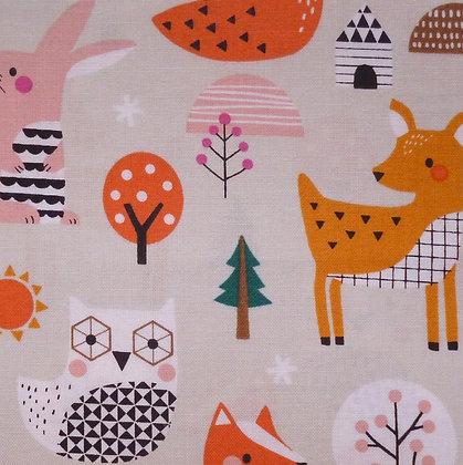 Fabric :: Geo Forest :: Multi Animals