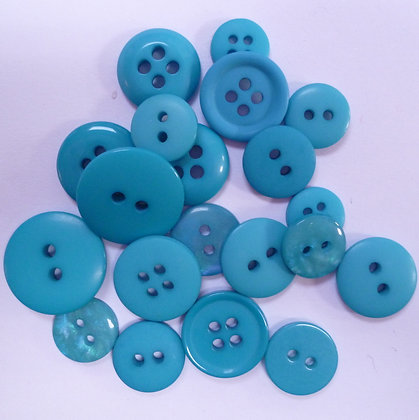 Dyed Pick & Mix Buttons :: Brilliant Blue