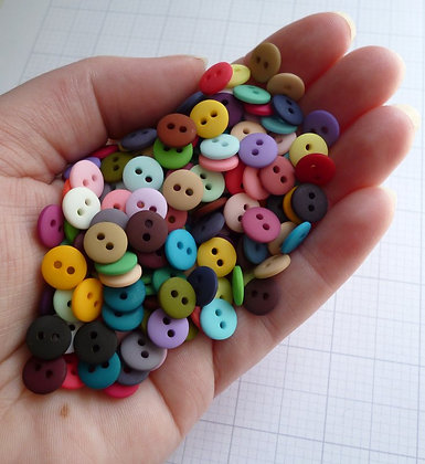Teeny Tiny Buttons RAINBOW Pack of 225 buttons
