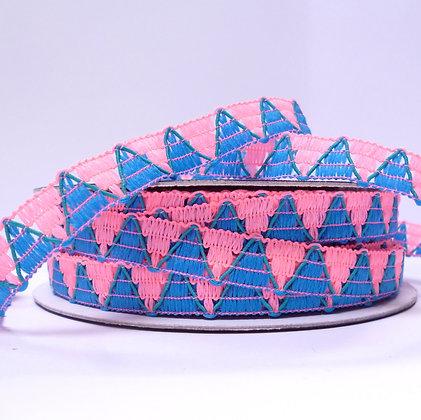 Neon Pink & Blue TRIM Triangles
