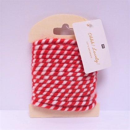 Red & White Deco Cord