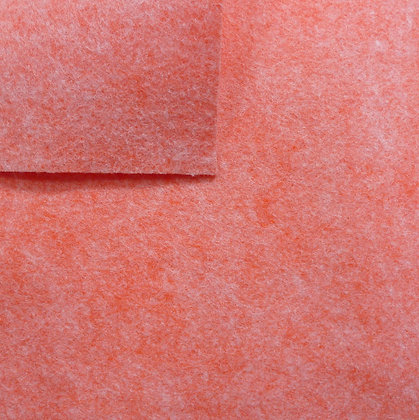 Coral - Heathered Felt - mini roll