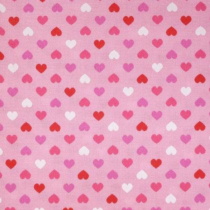 Fabric :: Mini Hearts :: Pinks on Pink