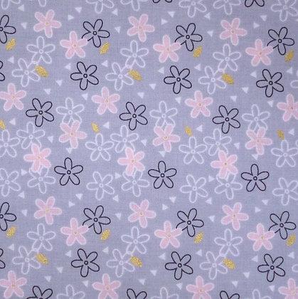 Fabric :: Do You Believe :: Glitter Daisy