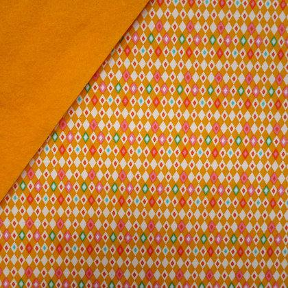 Fabric Felt :: VK Yellow Harlequin on Mustard