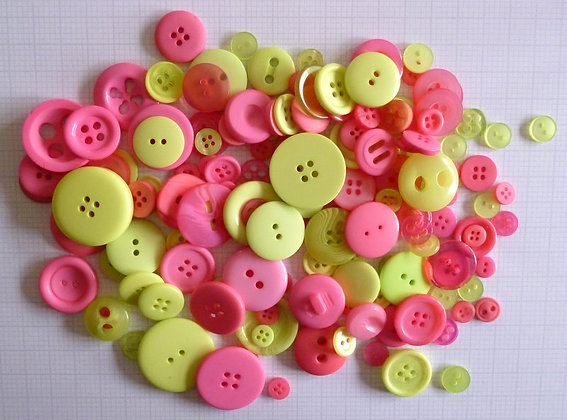 Buttons By Weight :: Lime & Pink