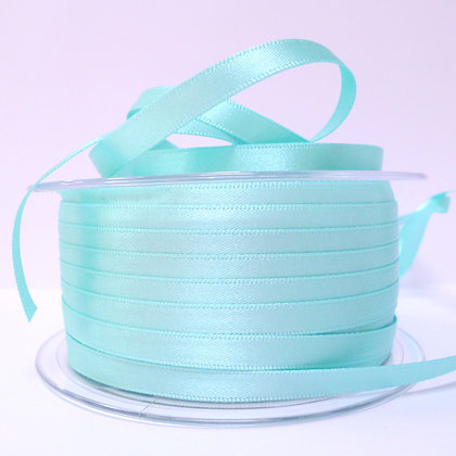 7mm Satin Ribbon :: Aqua (048)