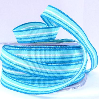 "1/2"" Stripe Ribbon :: Blue & Aqua"