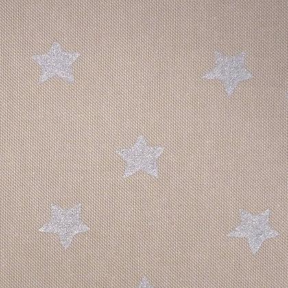 Fabric :: Wide :: Natural Christmas :: Big Silver Stars