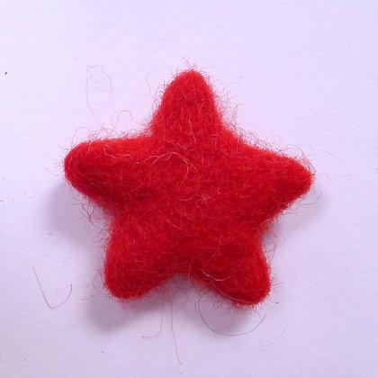 Felt Stars 100% Wool :: Red