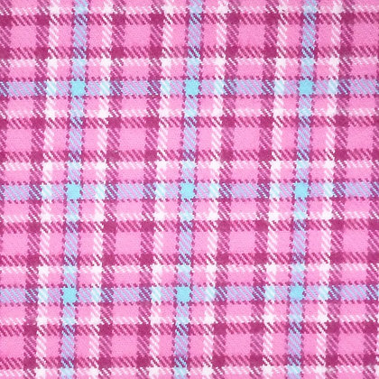 Fabric :: Plaid Flannel :: Pink and Light Blue