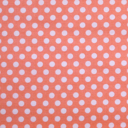 Fabric :: Kiss Dot :: Peach