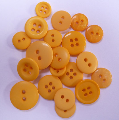 Dyed Pick & Mix Buttons :: Mustard