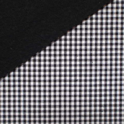 Fabric Felt :: Wide Black Gingham on Black