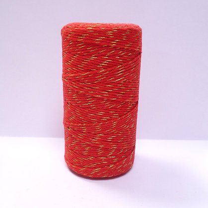 Baker's Twine Spool :: 100m :: Red & Gold