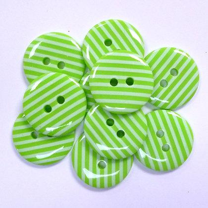Medium Stripe Button :: Green