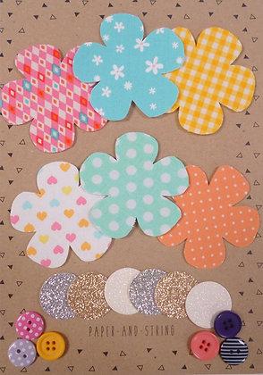 Fabric Felt Hand Cut Flowers Kit :: Pastels